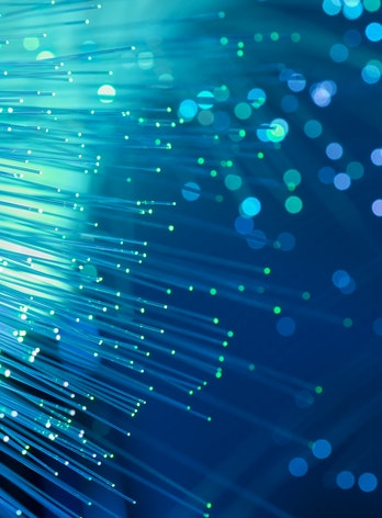 Abstract technology, fiber optic