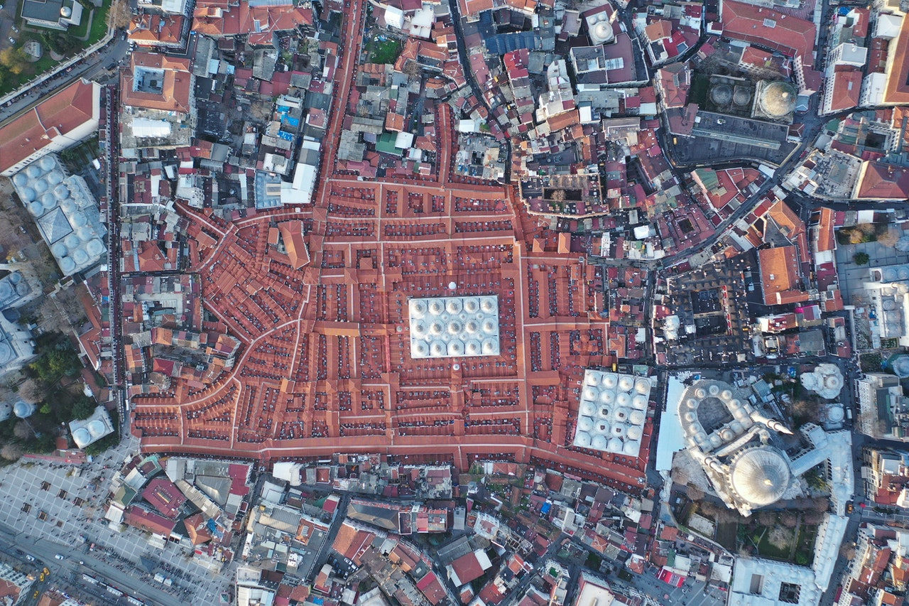 Aerial View Of Istanbul Turkey