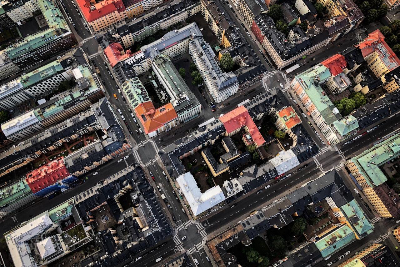 Aerial View Of Stockholm Sweden