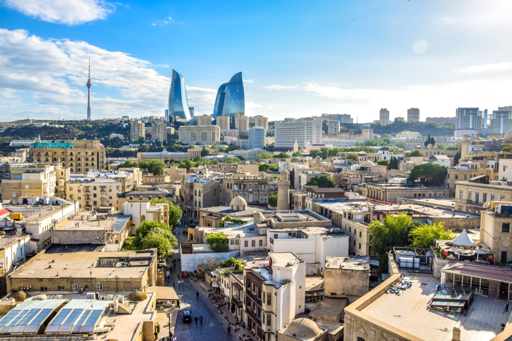 Aerial View Of Baku Azerbaijan