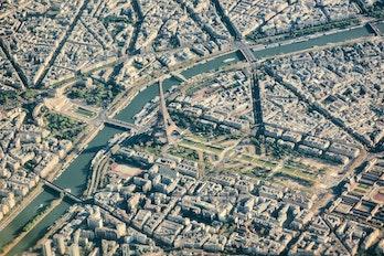 Aerial View Of Paris France