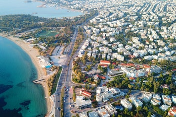 Aerial View Of Athene, Greece