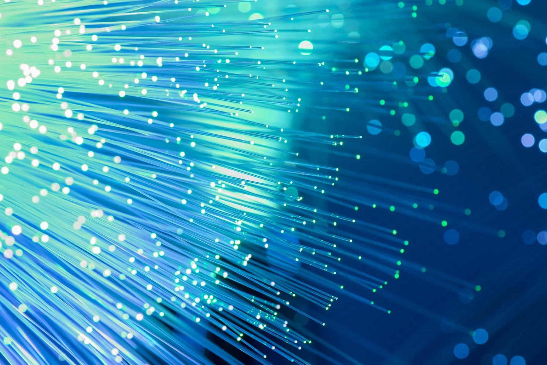 Abstract technology, fiber optic