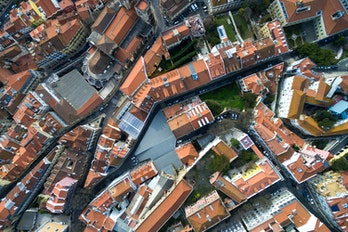 Aerial View Of Lisbon Portugal