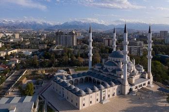 Aerial view of Bishkek, Kyrgyzstan