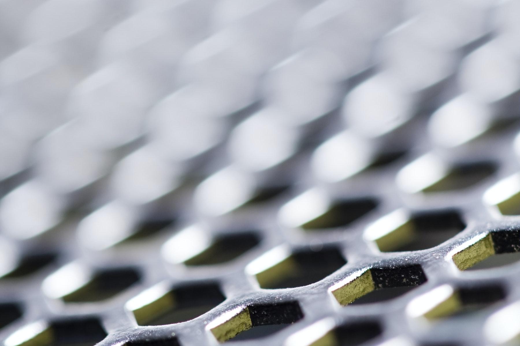 Macro computer grille