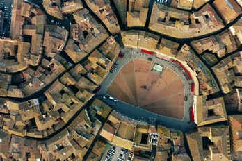 Aerial View Of Sienne Italy