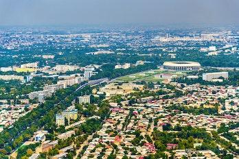 Aerial View Of Tachkent Uzbekistan
