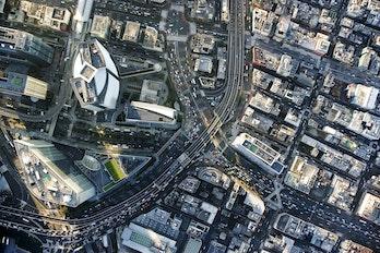 Japan Tokyo Shiodome Aerial View