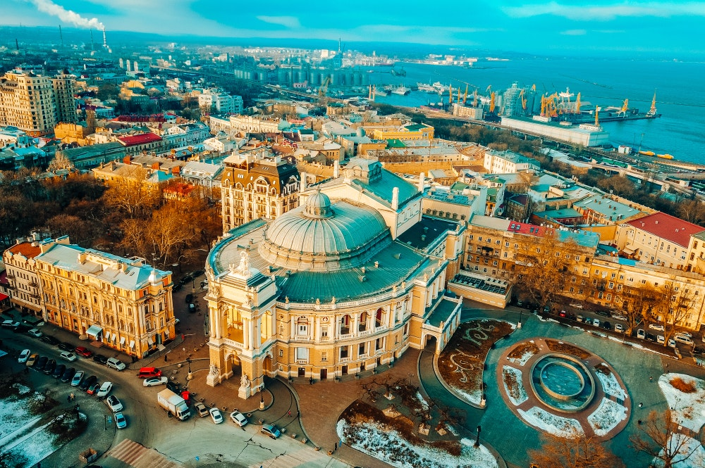 Aerial view of Odessa, Ukraine
