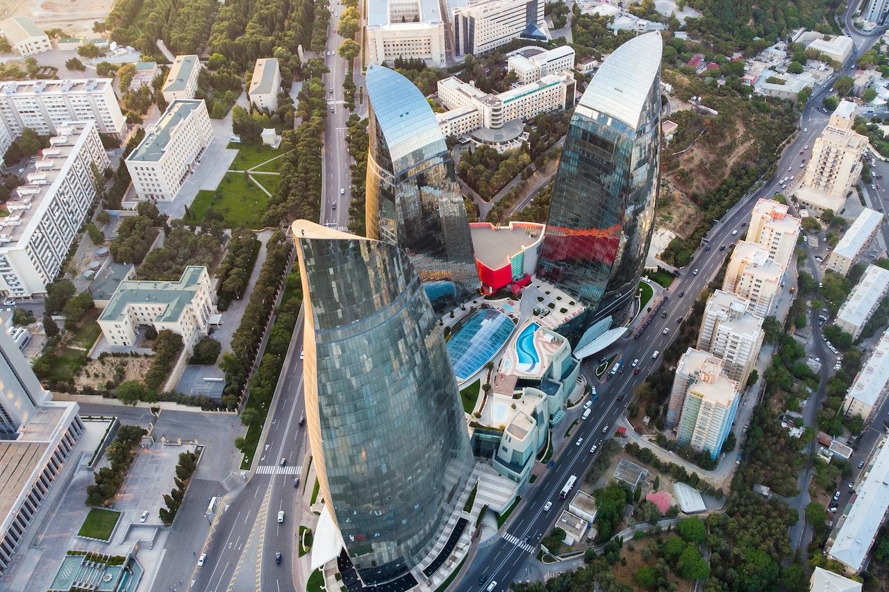 Aerial View Of Baku Azerbaijan